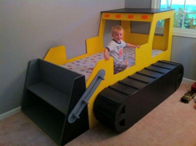 Bulldozer Toddler Beds Modern Unique For Boys