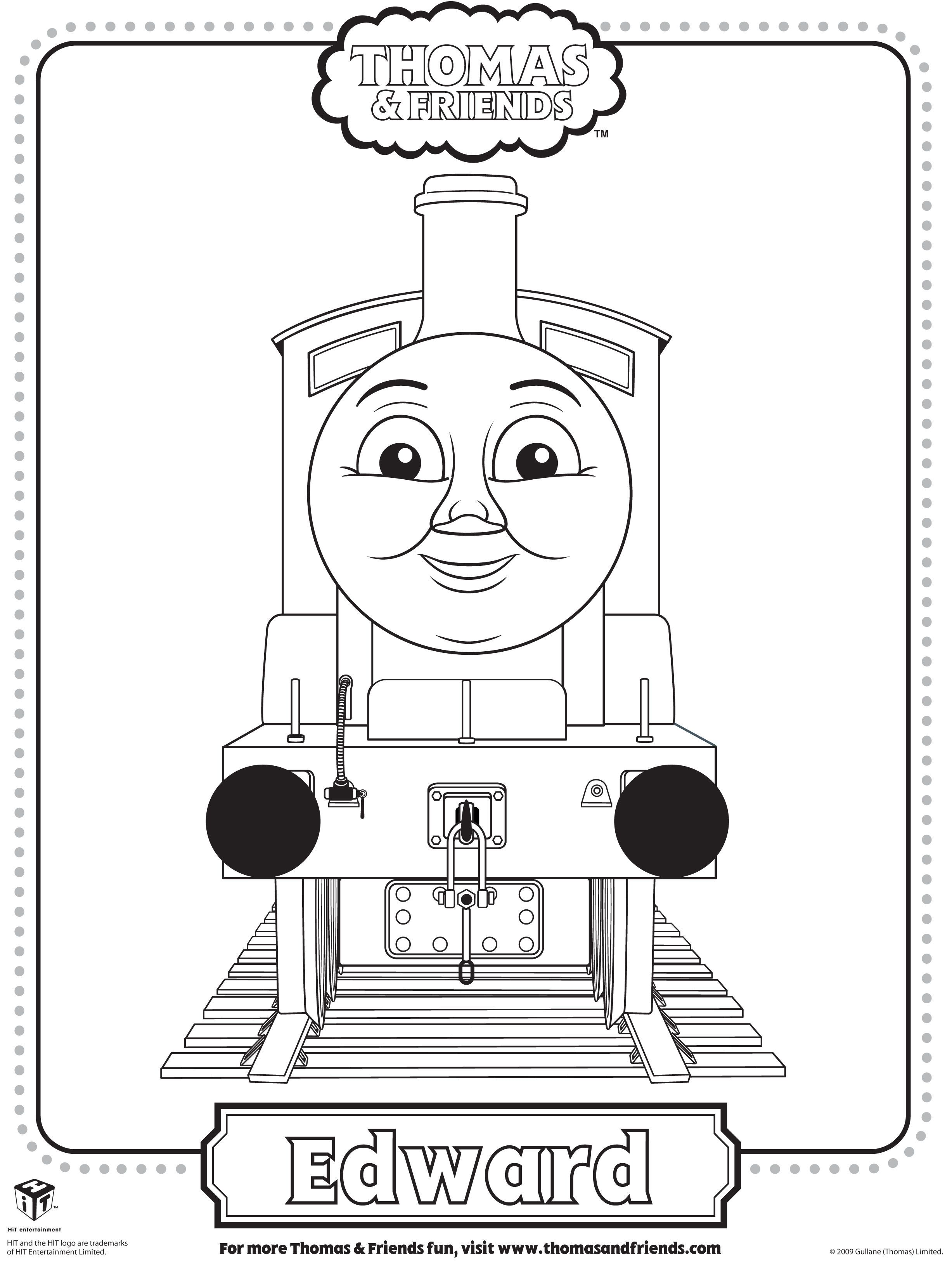 Thomas And Friends Coloring Pages James