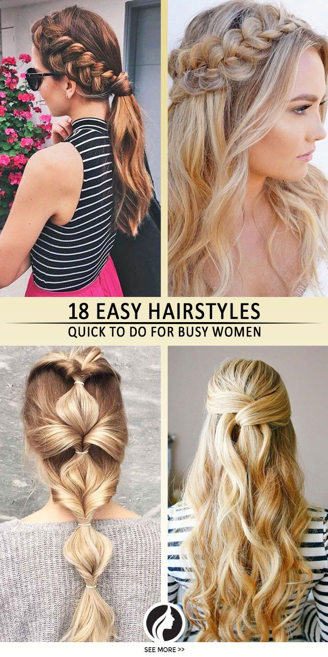 Easy Quick Hairstyles for Busy Mornings Quick hairstyles Hair