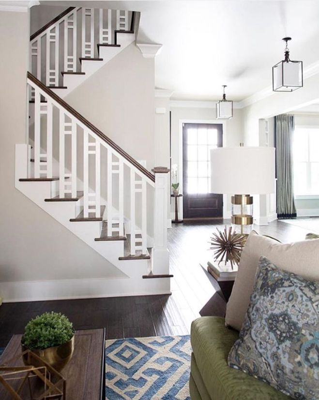 Beautiful stair railing banister for the home