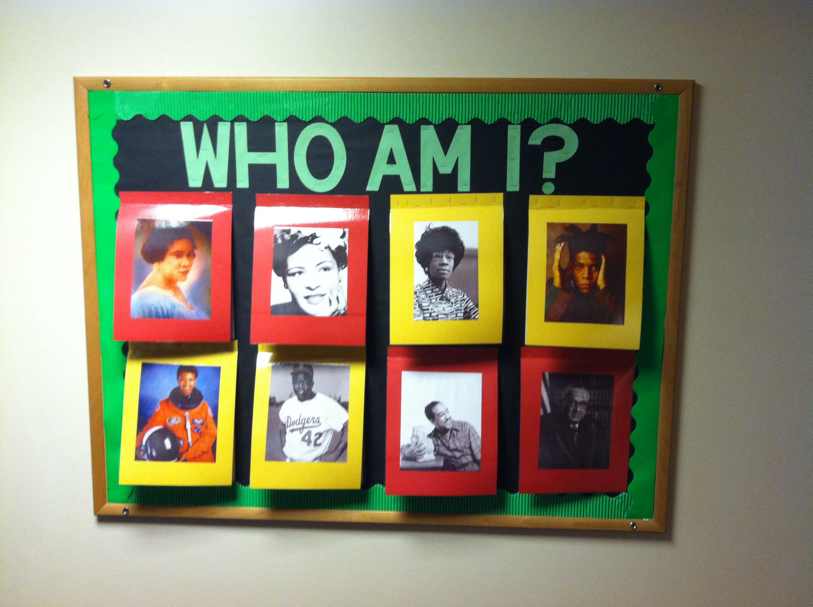 Black History Month Bulletin Board Pictures Flip Up To Reveal The Name And Facts About The