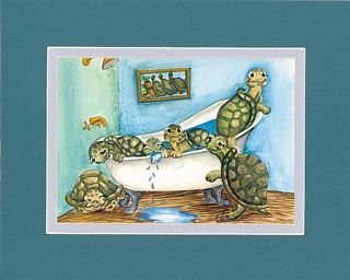 sea turtle bathroom accessories | enjoy some fun turtle art in