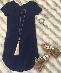 Stitch Fix Stylist-  I think this dress is super cute, but unless it is slightly fitted they swallow me up and make me appear