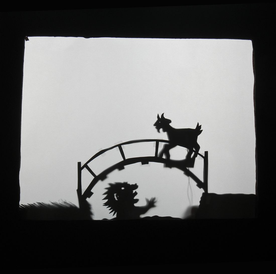 Shadow Puppet Theater Three Billy Goats Gruff