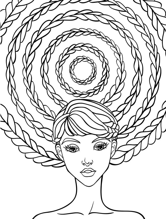 Hair Coloring Pages Coloring Pages For Familly And Kids
