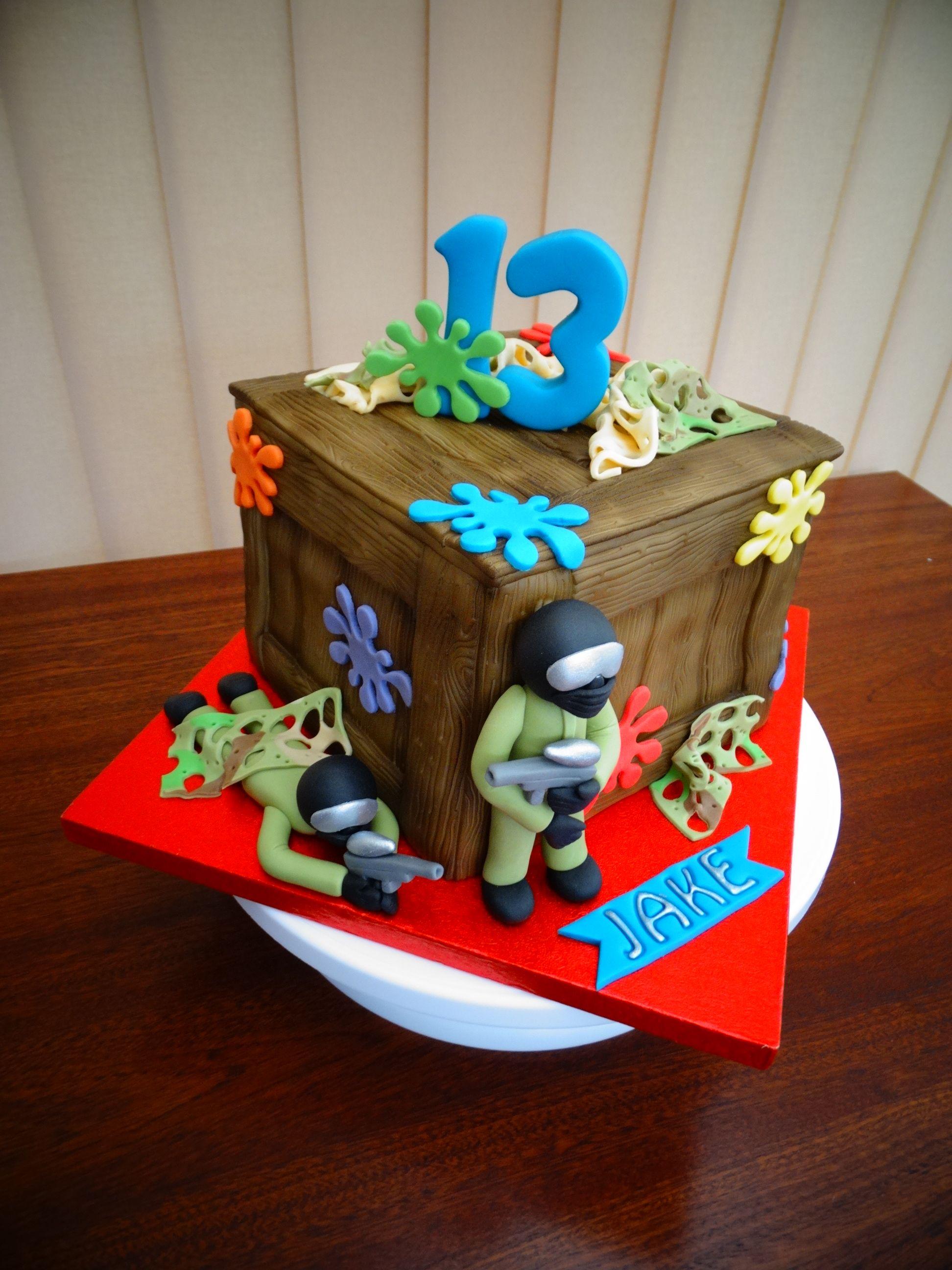 Paintball Theme Cake Xmcx