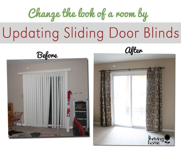 An Easy Way to Update a Sliding Door Blind Thriving Home Sliding