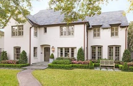Painted Brick Houses This Houston House Appeared In Traditional Home And The Homeowner Noted