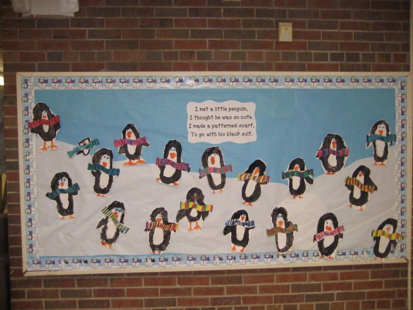 Penguins And Patterned Scarves Kindergarten Hoppenings More Winter Activities