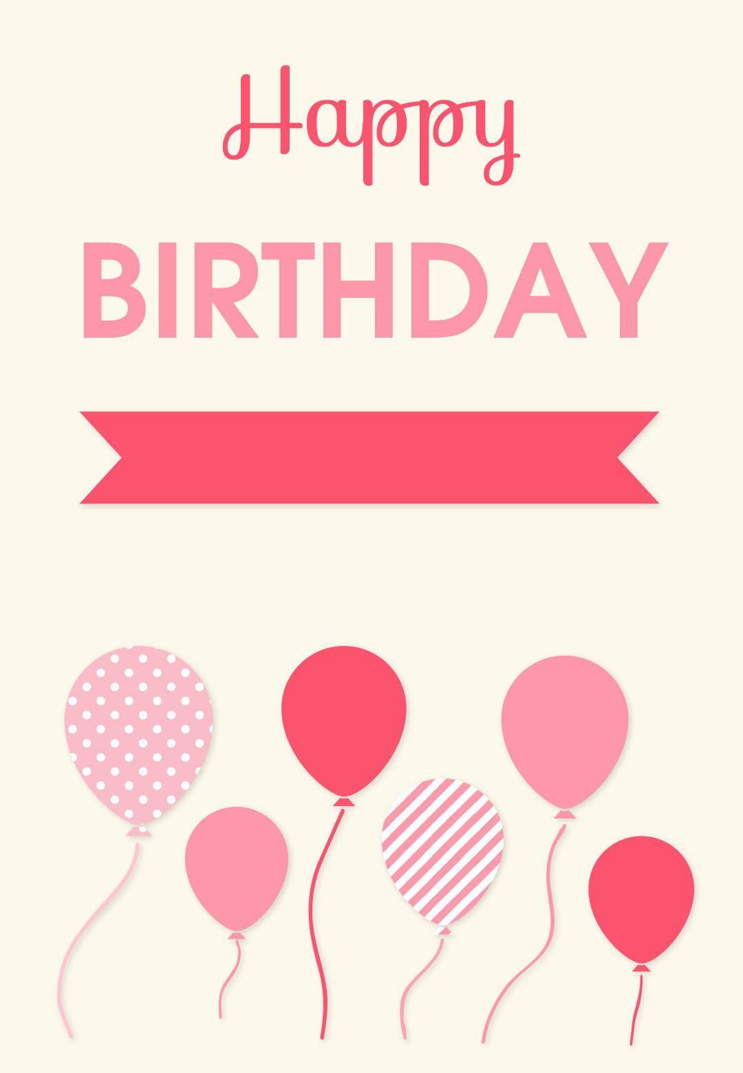 Birthday Card Free Printables