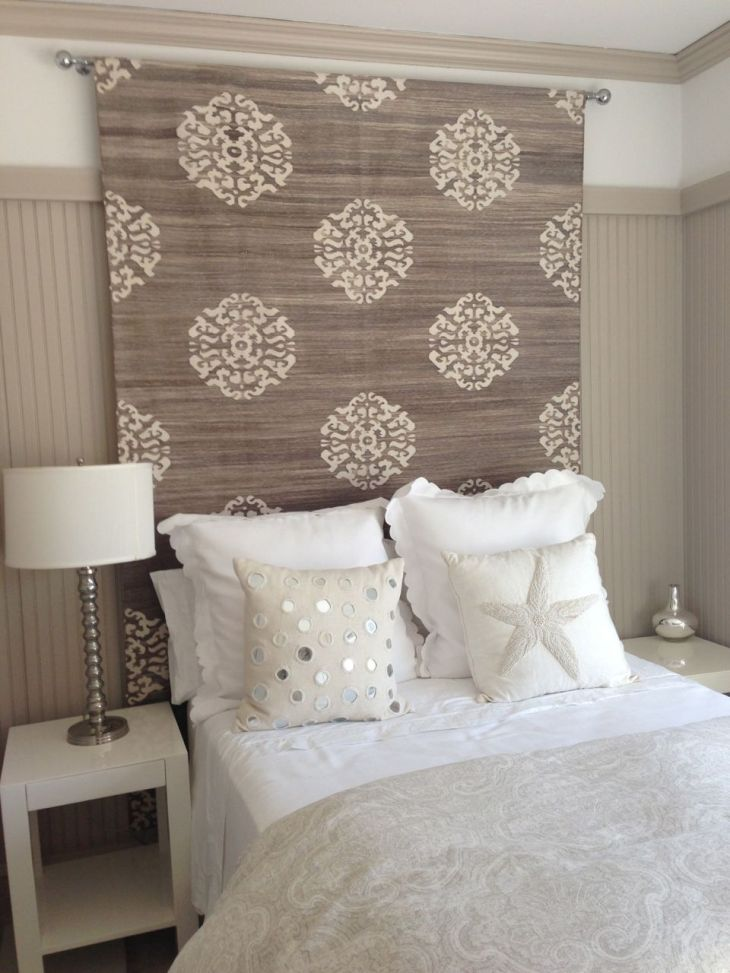 h headboard idea rug tapestry or heavy fabric would help with