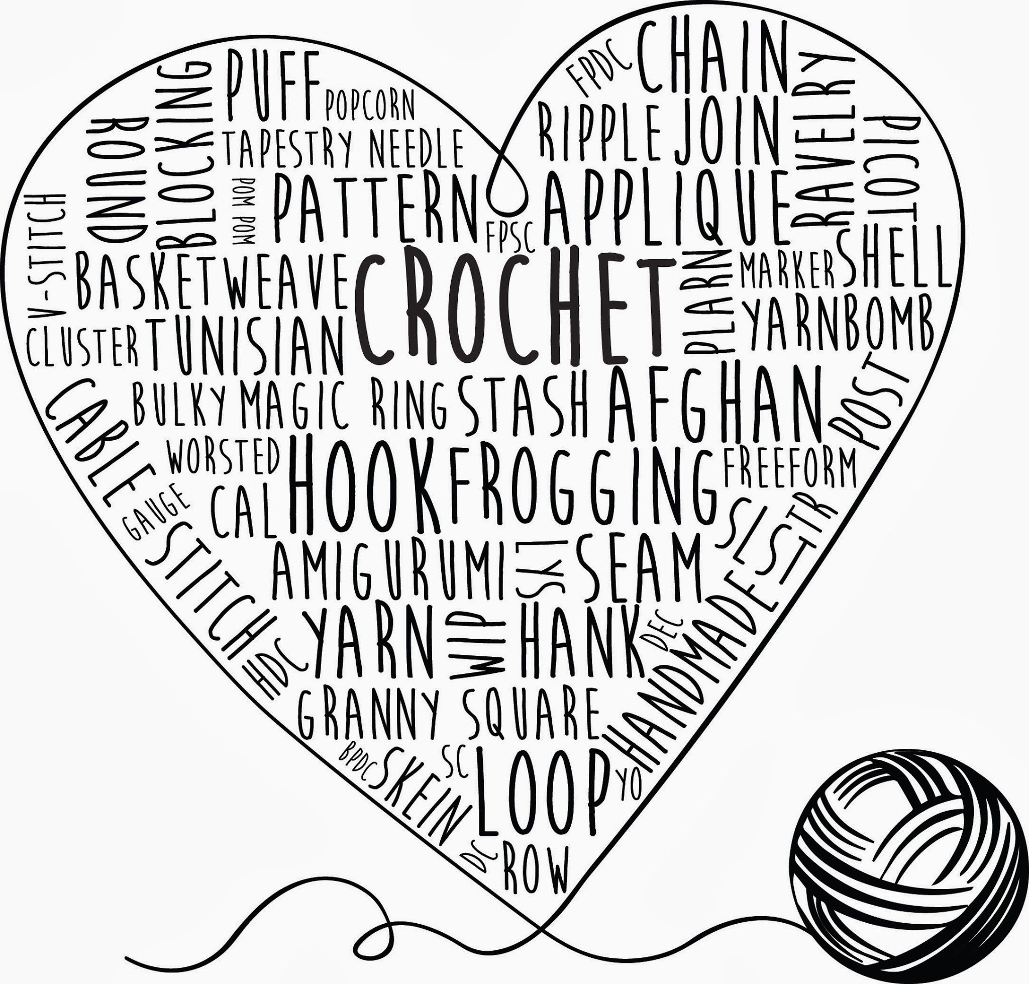 Crochet Words Printable Art