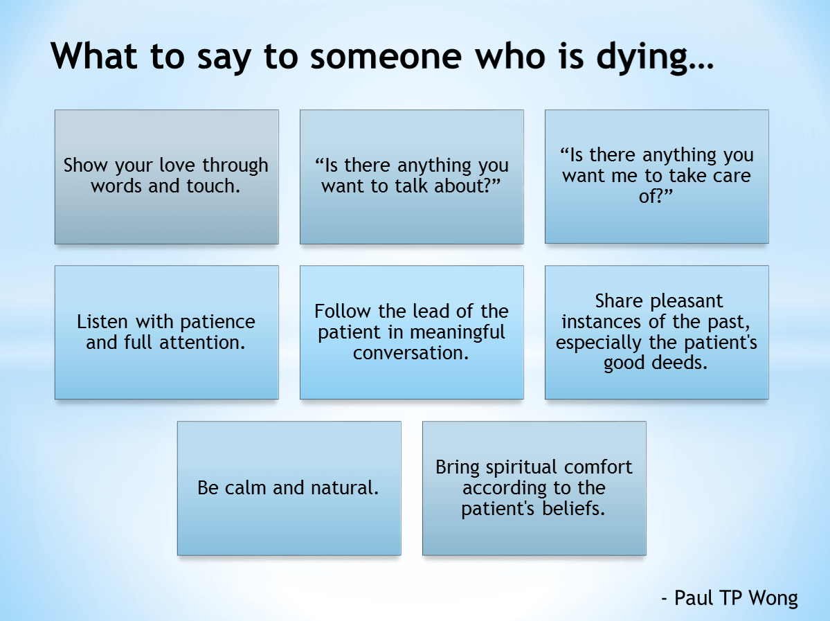 Words Of Comfort For Someone Dying