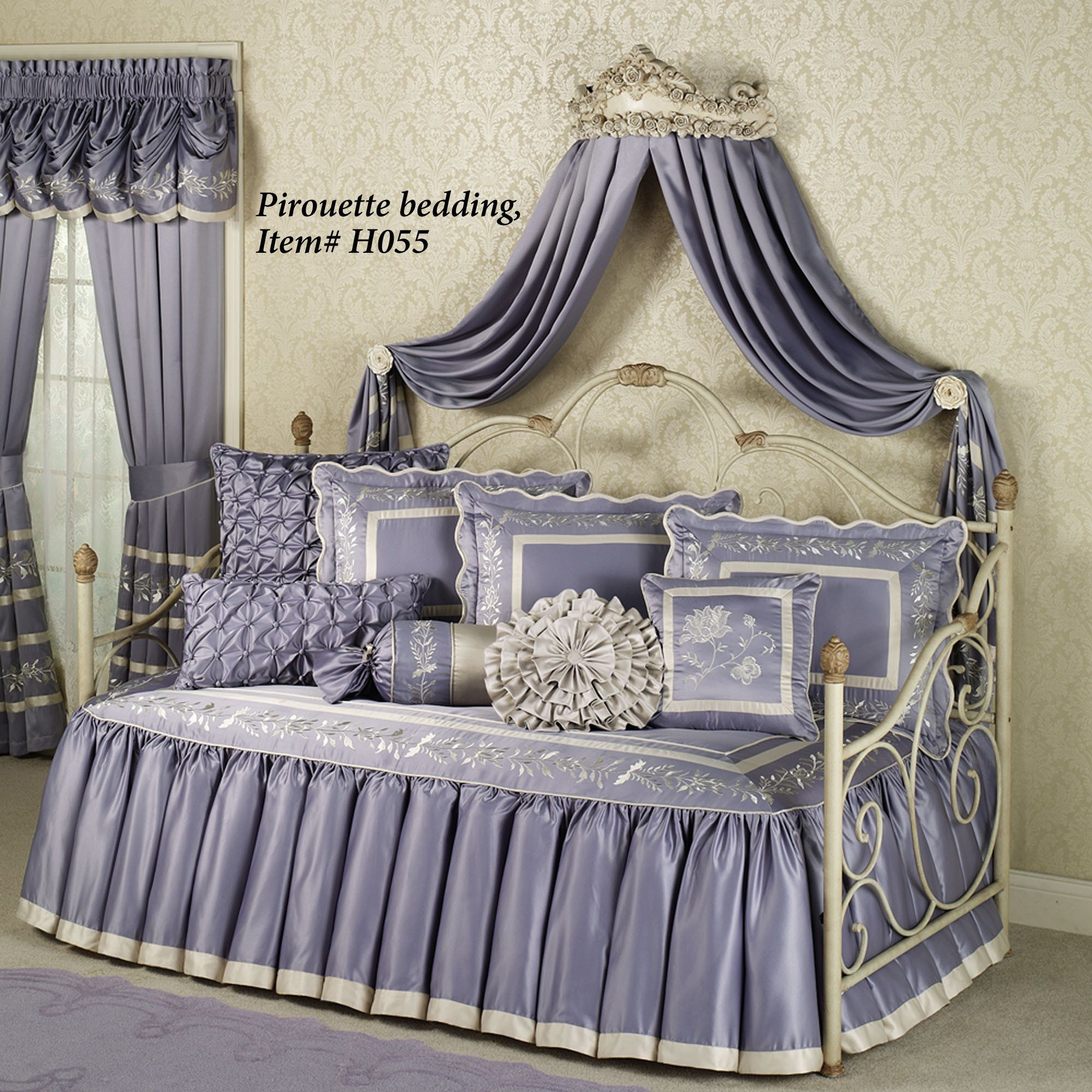 Victoria Rose Antique Ivory Wall Teester Bed Crown | Bed ... on Wall Teester Bed Crown  id=38947
