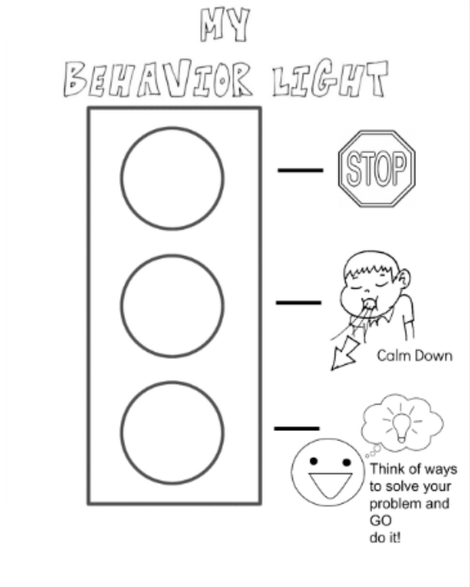 Behavior Stop Light Coloring Page I Created For My Kiddos