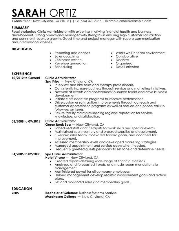 public administration resume
