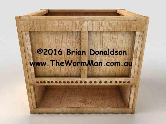 Build a continuous flow through worm bin using the plans