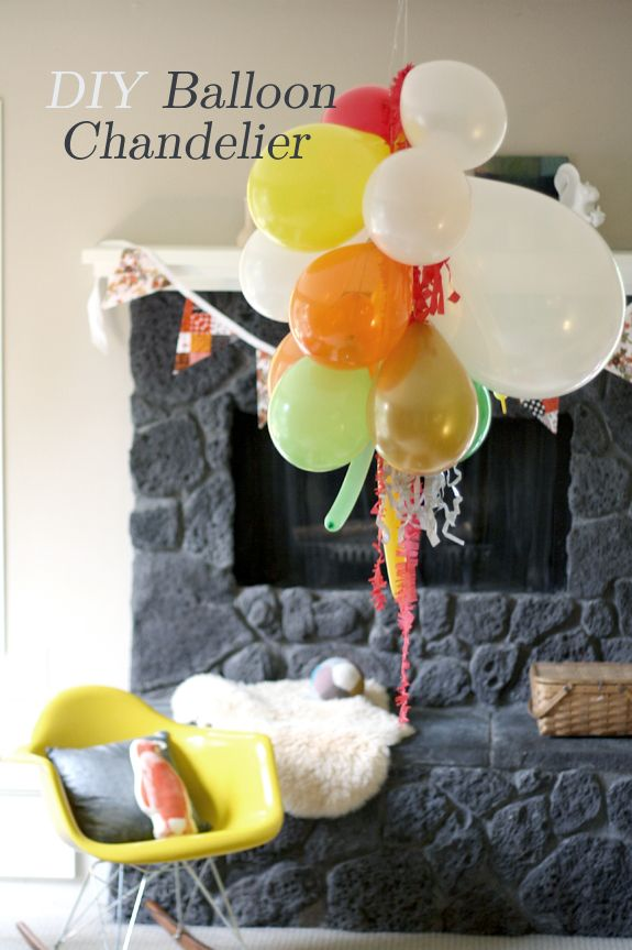 Press On The Link Make Your Own Balloon Chandeliers Perfect For Birthday Parties