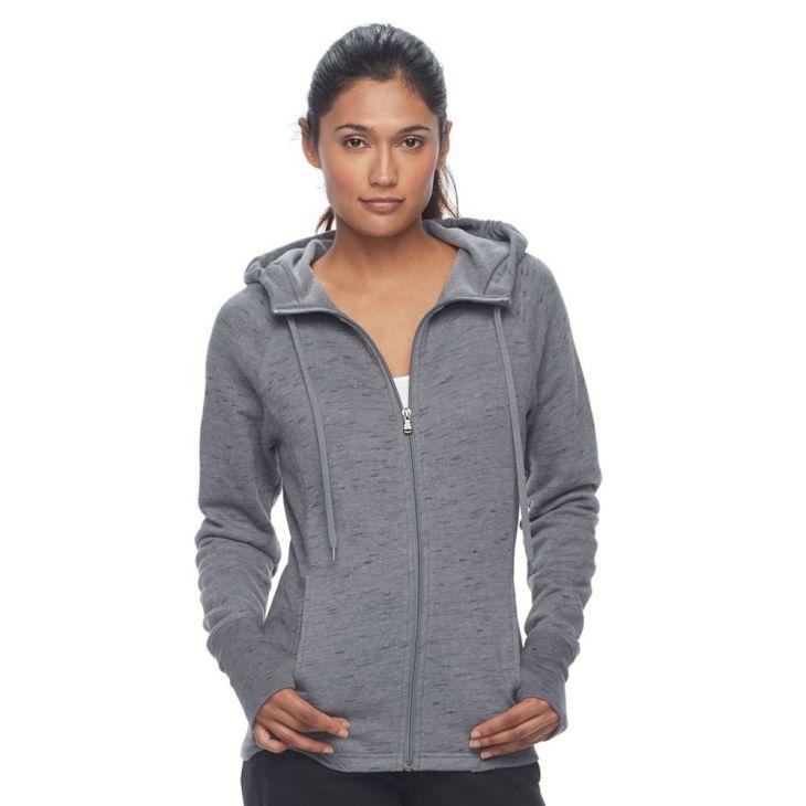 Tek Gear Petite Ribbed Fleece ZipUp Jacket Petite Zip and Products