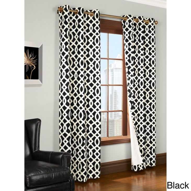 Trellis Printed Thermal Insulated Curtain Panel Insulated curtains