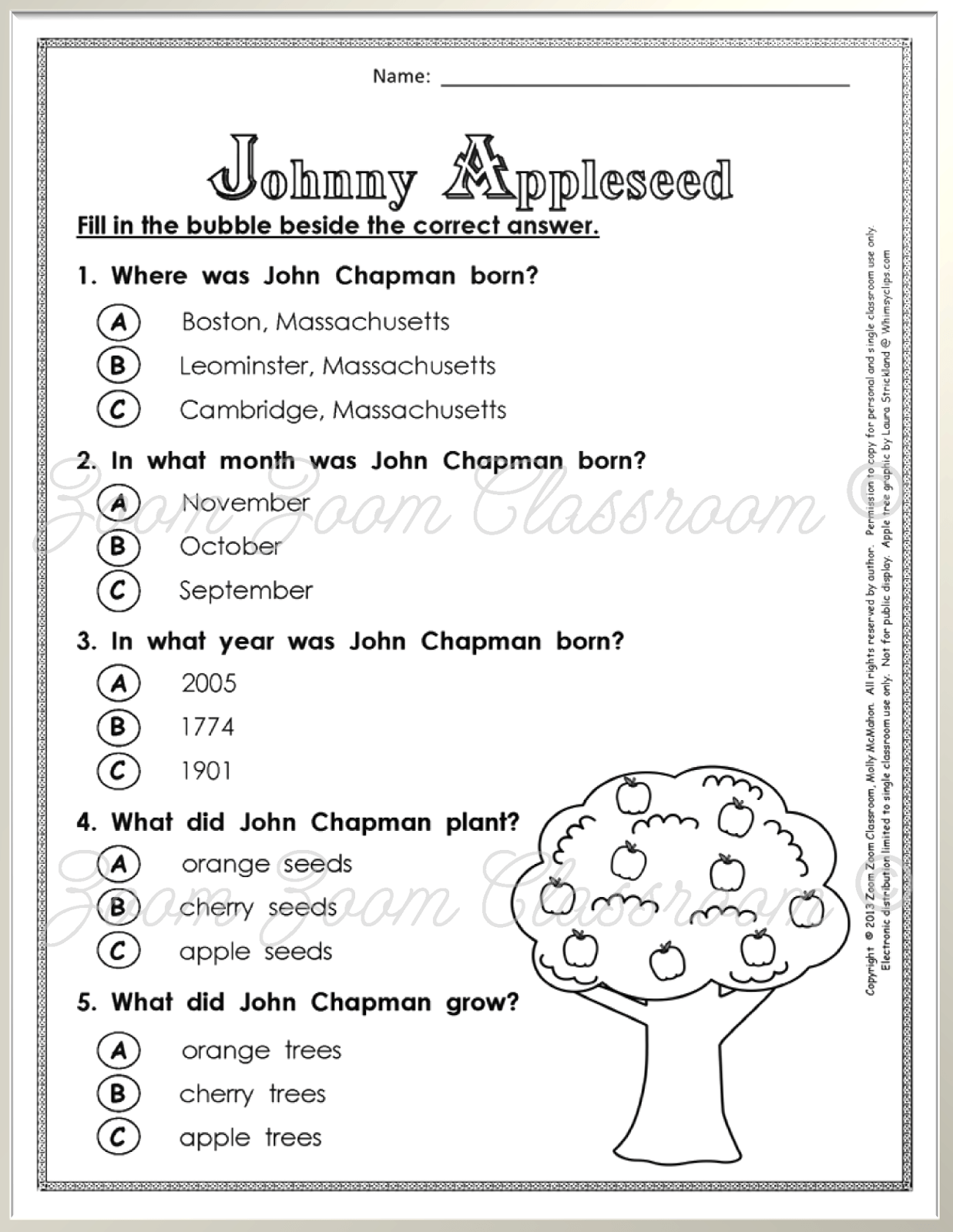 Celebrate Johnny Appleseed S Birthday With A Book And A