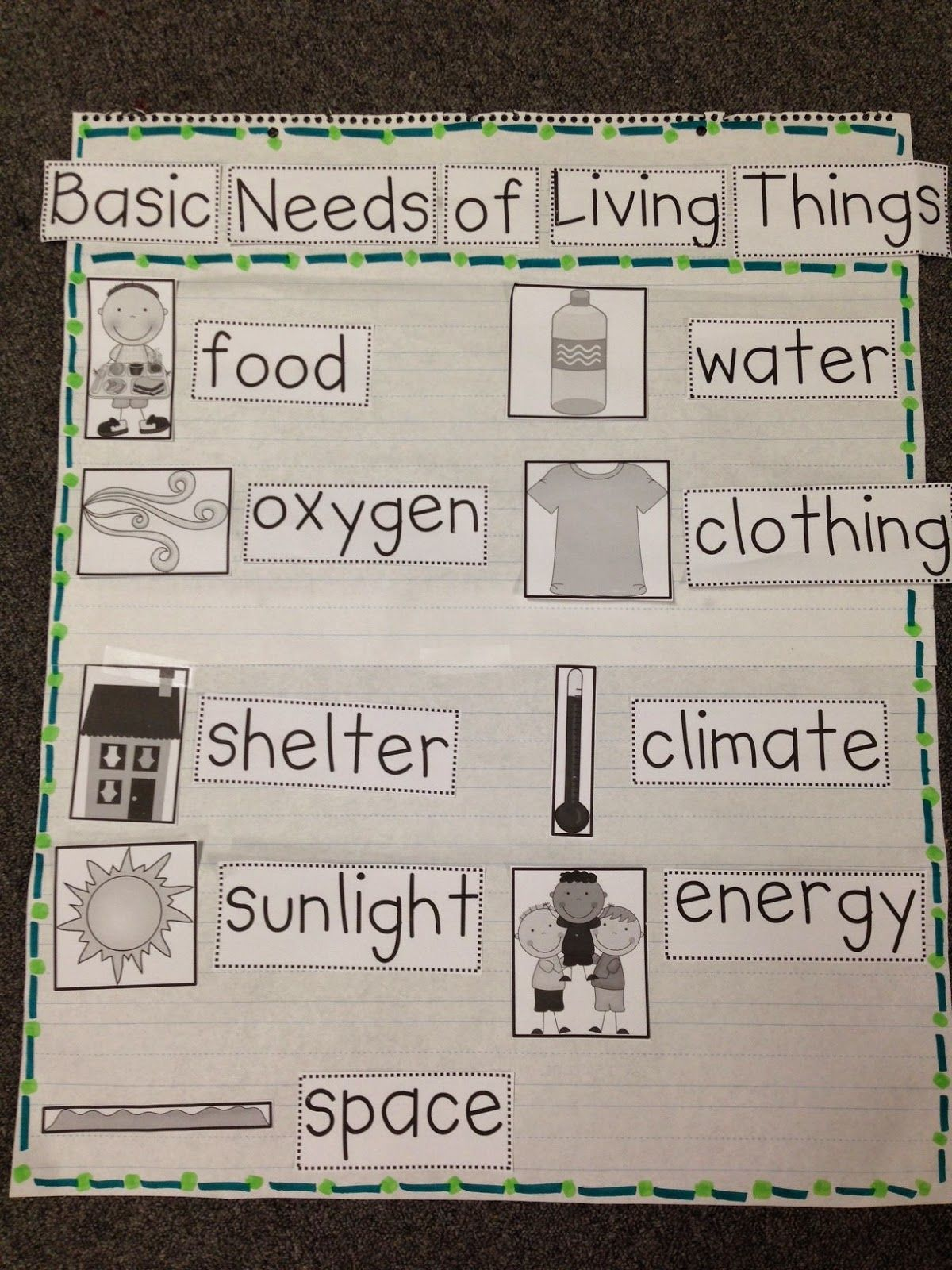 Basic Needs Chalk Talk A Kindergarten Blog