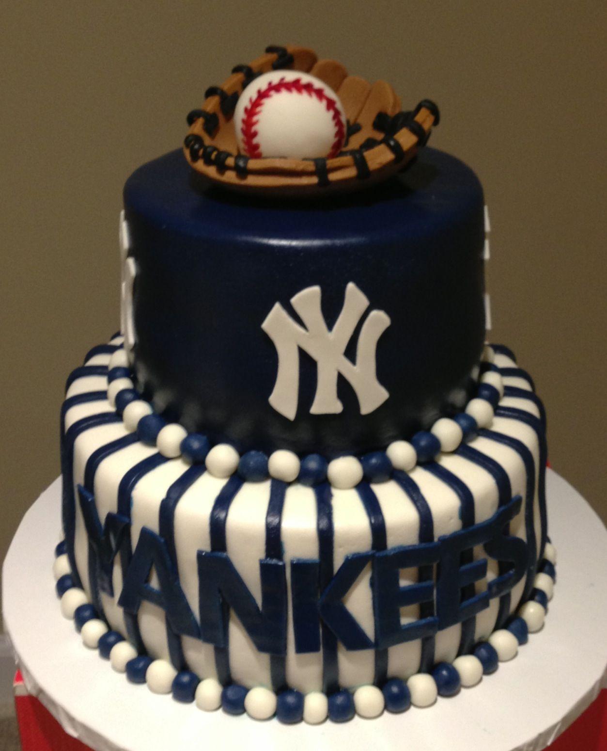 Yankees Grooms Cake Aftykake
