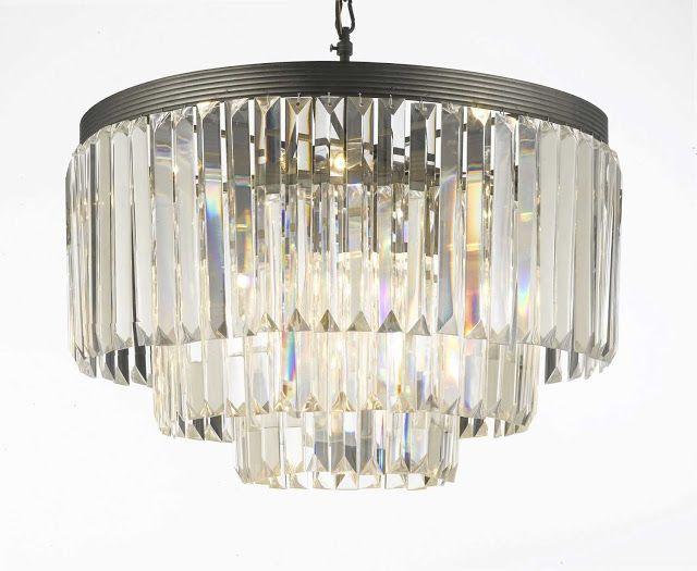 Via Restoration Hardware 1920 S Odeon Glass Fringe Chandelier 1 995 Crystal 297 This Post