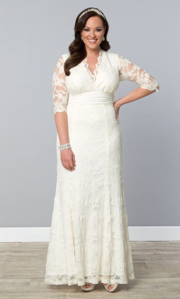 Amour Lace Wedding Gown Ivory From the plus size fashion community