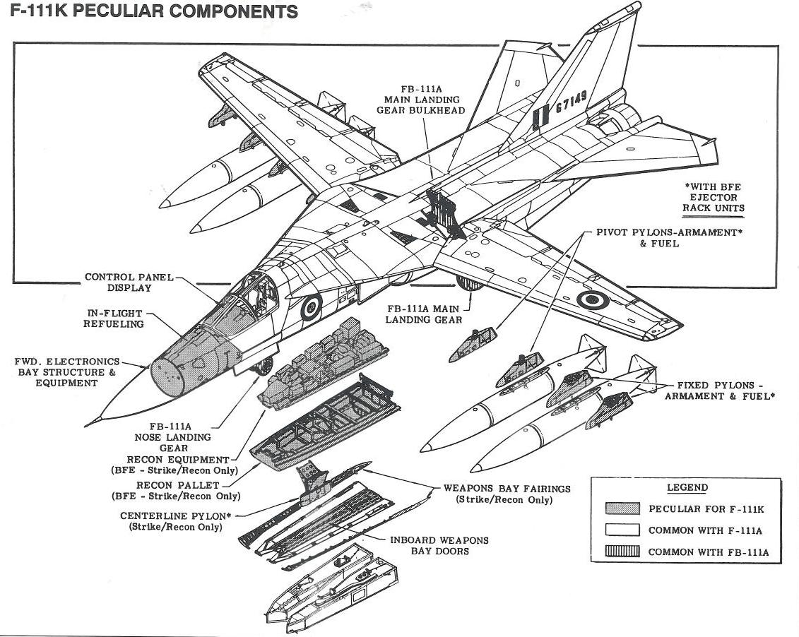 F 111k Cutaway Diagram