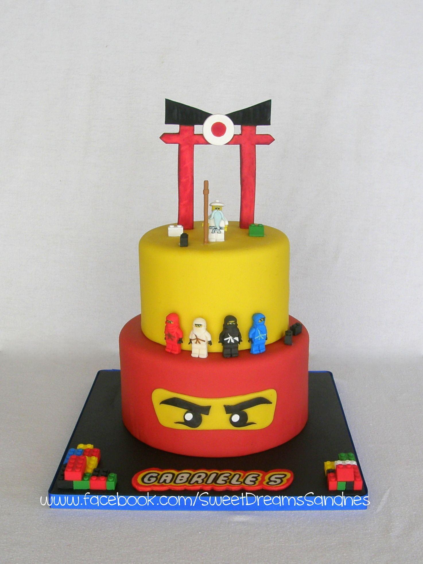 Lego Ninjago Birthday Cake Put The Bottom Layer As The Top