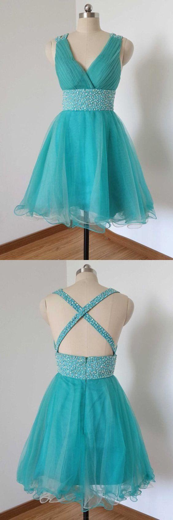 Cheap Mini Prom Homecoming Dress Short Light Blue Dresses With Criss