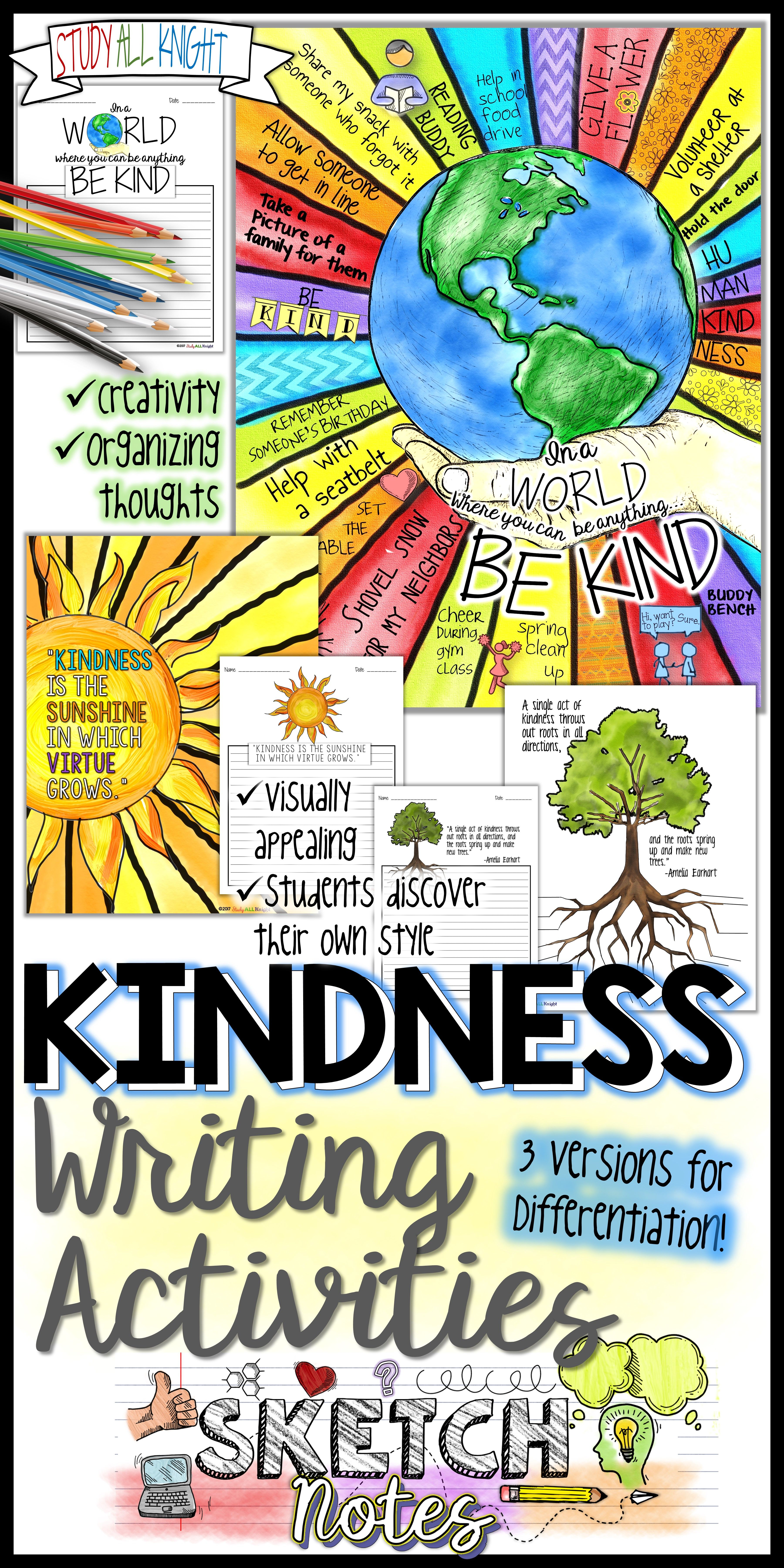 Kindness Writing Activity Quotes Student Choices