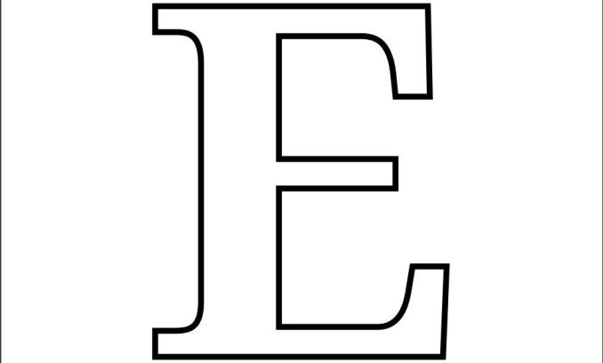 Printable Letter E Coloring Page Use This For Your Crafts And Cut Out Projects Kids Will