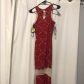 Red prom dress stretchy material windsor fc and prom