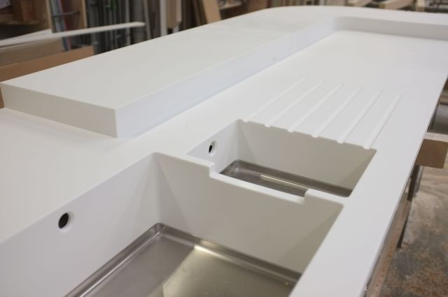 Corian Sink but I don t like the dip in between
