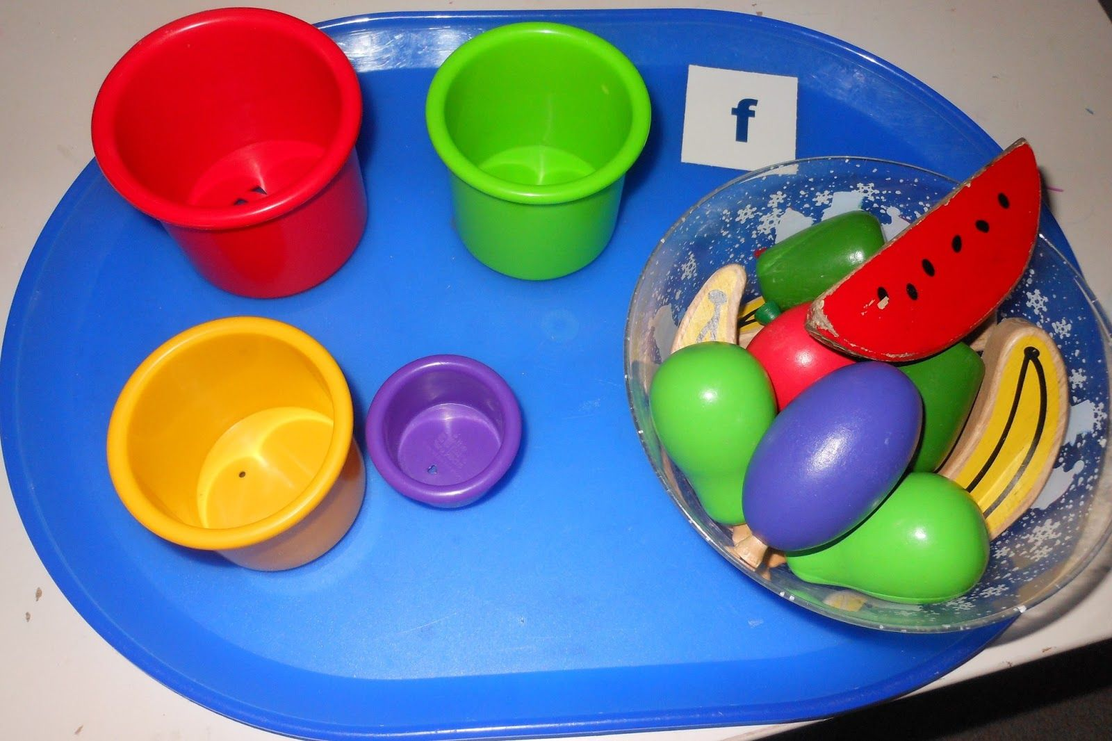 Letter F Activity Color Sorting Fruit