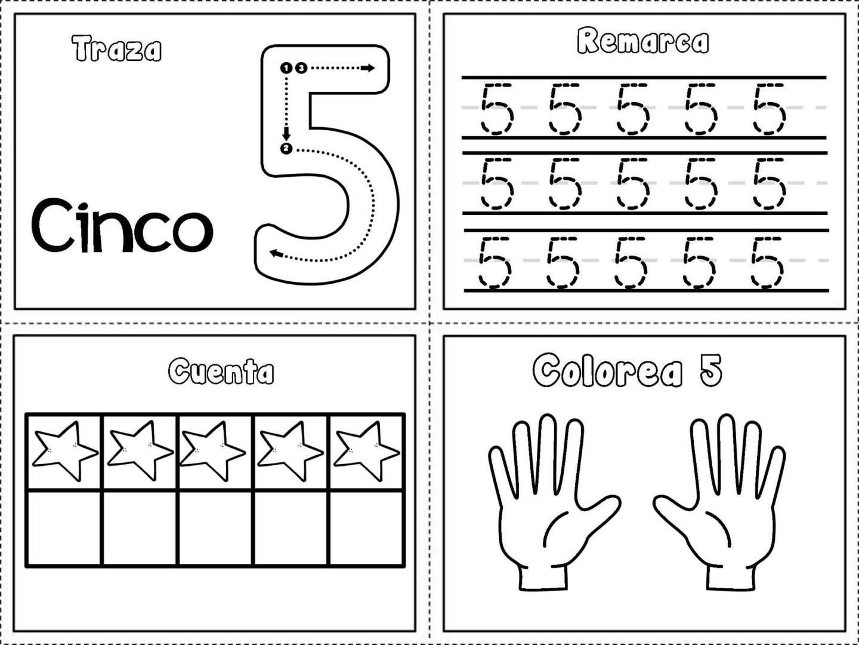 Grafomotricidad Numeros Del 1 Al 10 5