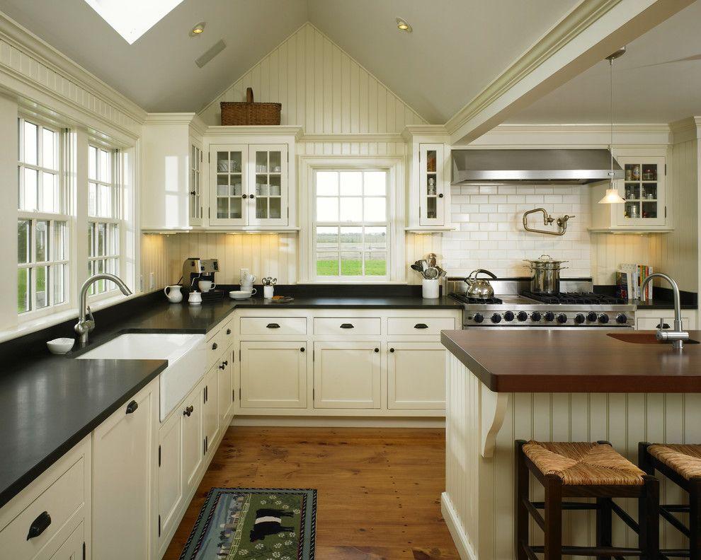 black farmhouse sink kitchen farmhouse with large range black countertop home ideas on farmhouse kitchen granite countertops id=97163