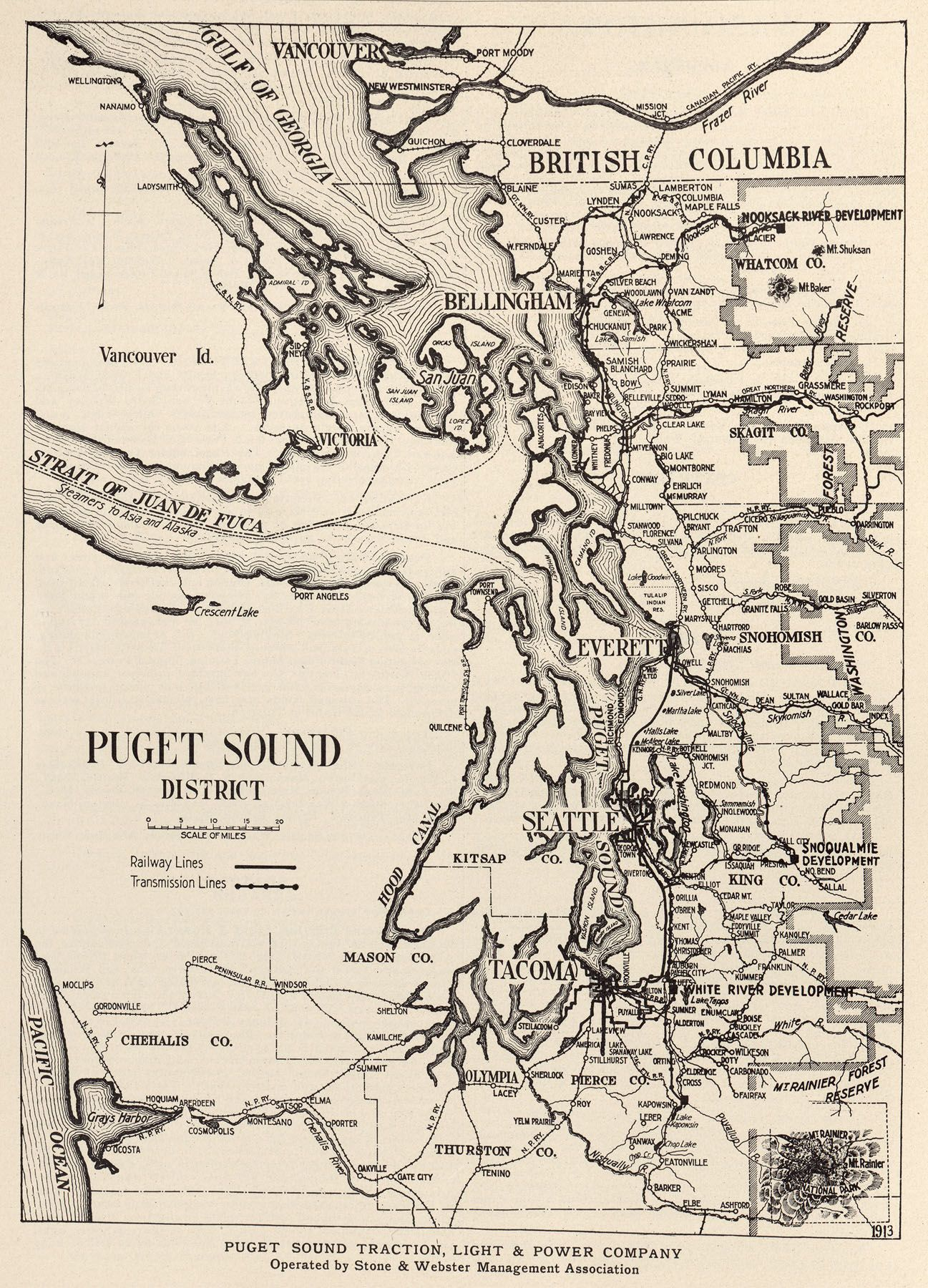 Puget Sound Traction Light Amp Power Map