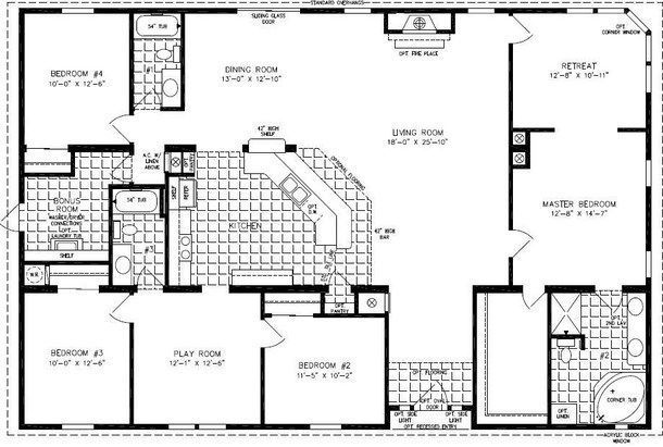1000 Images About Floor Plans On Pinterest Architectural House  Single Wide  Mobile Home Floor Plans 1 Bedroom Homes. 1 Bedroom Modular Homes Floor Plans   Bedroom Style Ideas