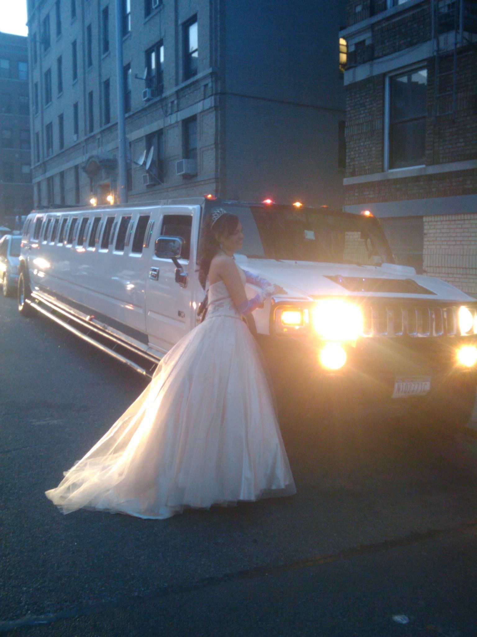 Light pink dress Hummer Limo Sweet Sixteen Dresses