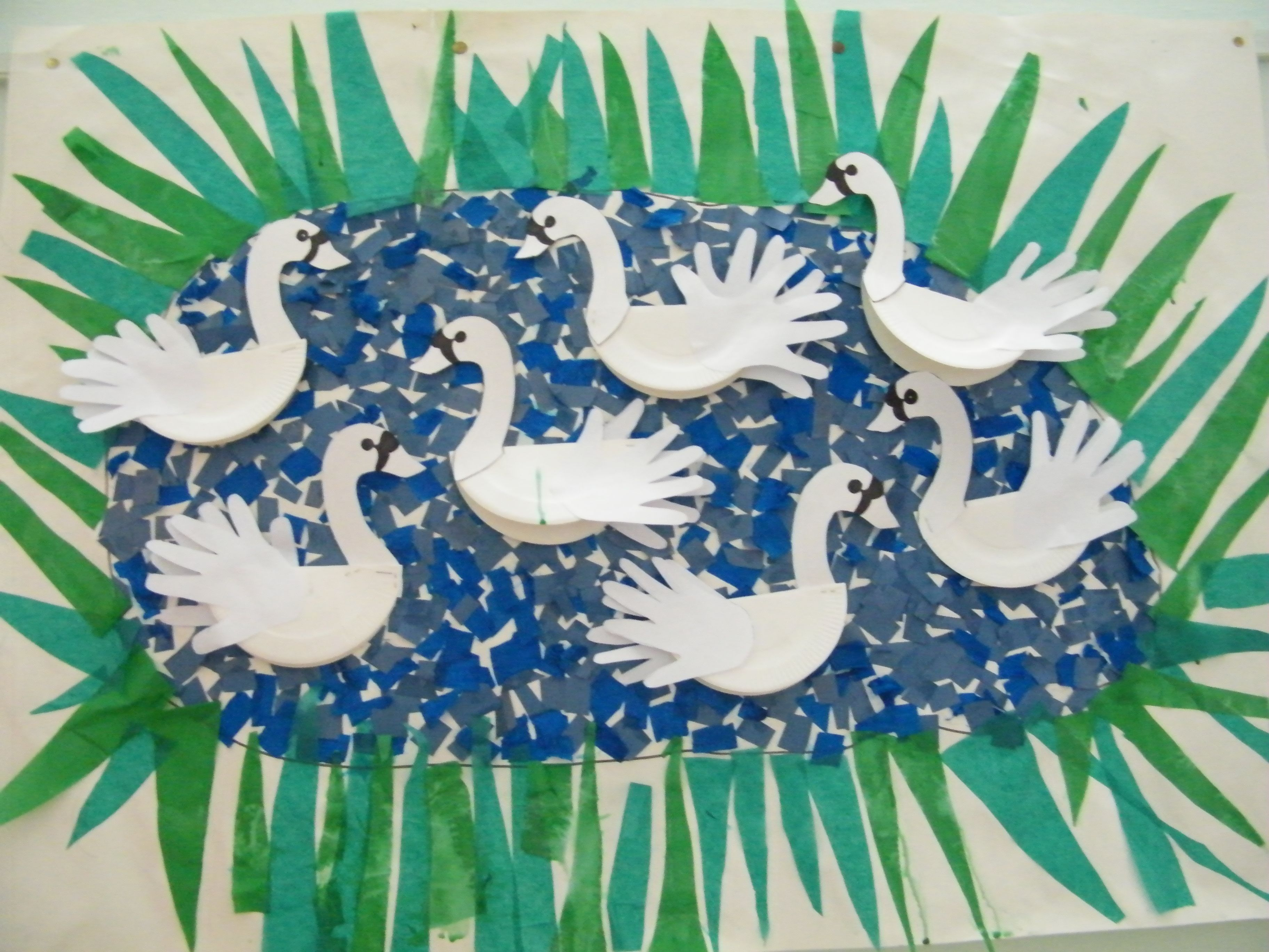 We Made These Swans After Reading The Ugly Duckling