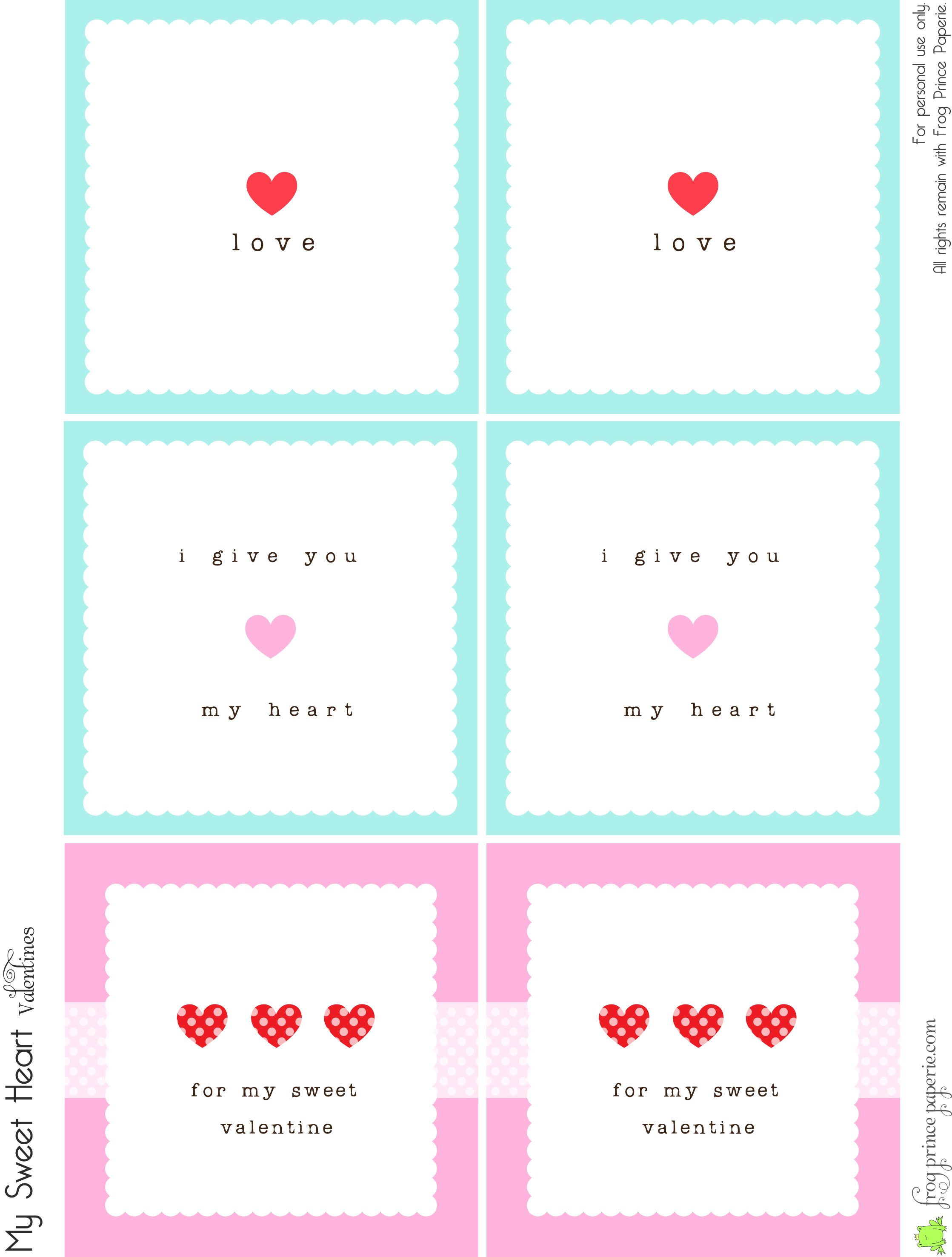 Free Valentine S Lunch Box Notes