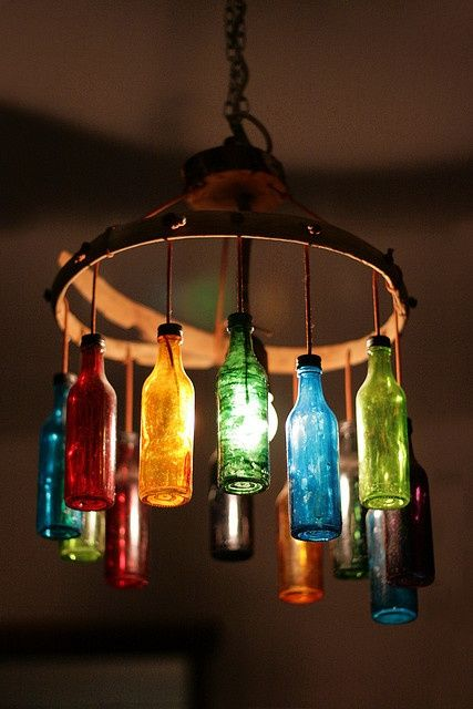 Glass Bottles Upcycled Repurposed As Home Decor Super Cool Would Be Awesome