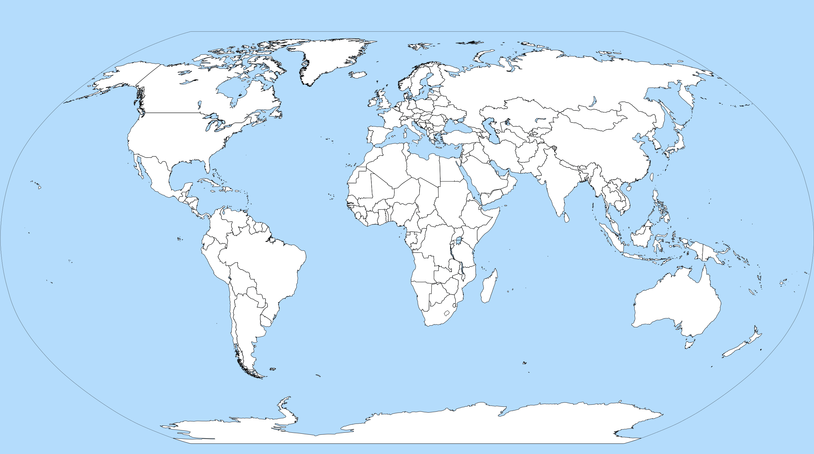 World Map Without Names