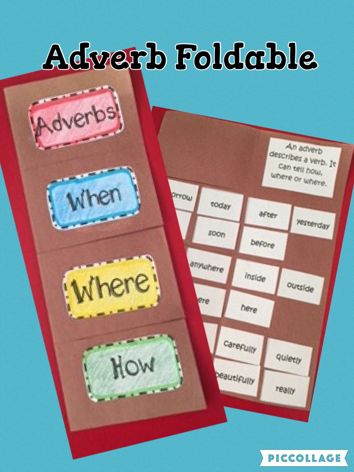 Adverb Foldable And Activities A Great Resource For