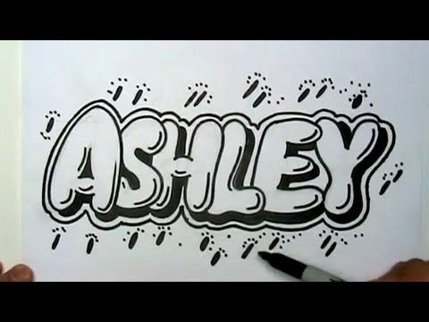 How To Draw Ashley In Graffiti Letters Write Ashley In