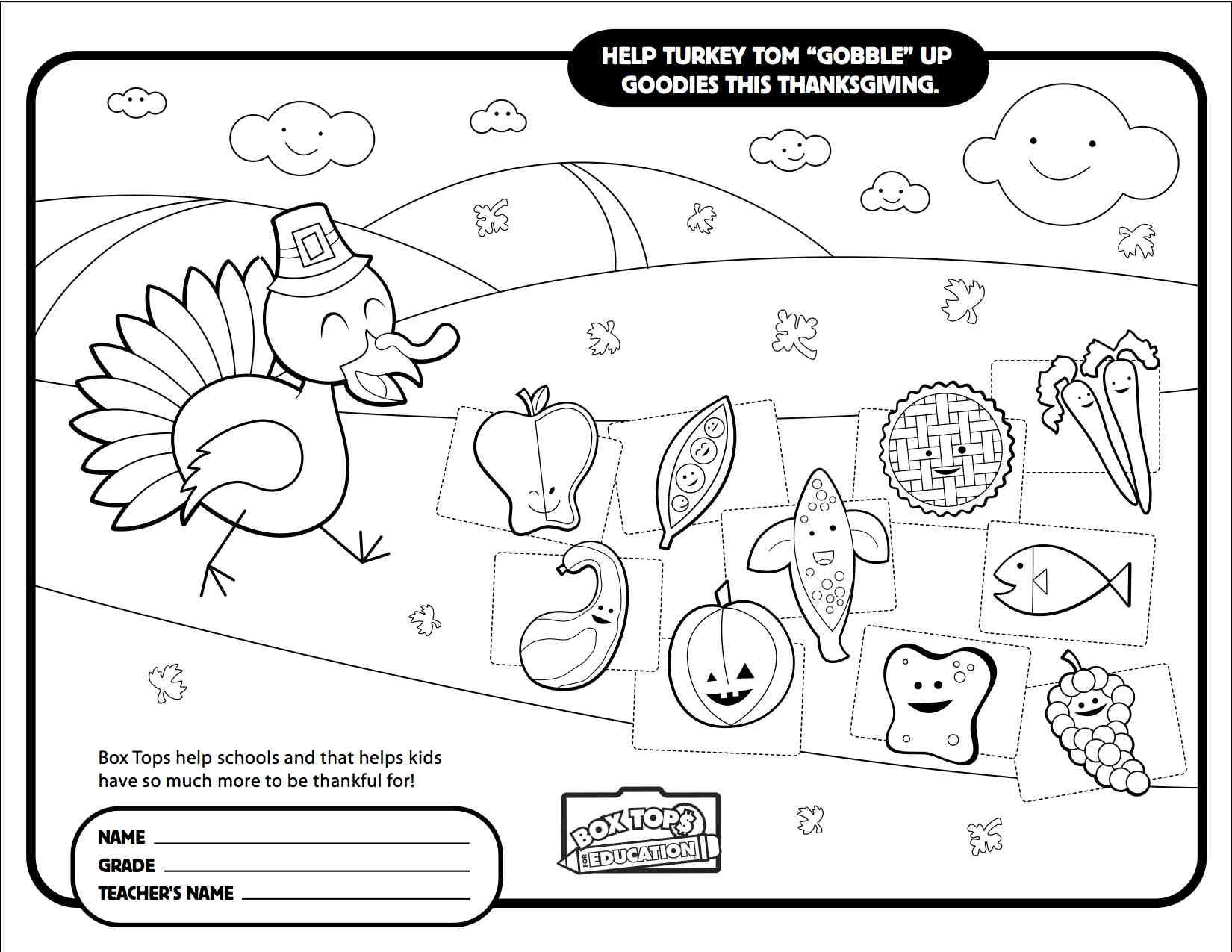 Turkey Collection Sheet