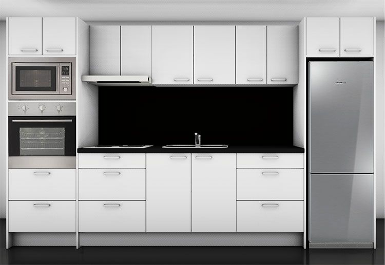 straight line executive complete kitchen ideas pinterest wall ovens kitchens and walls on kitchen cabinets vertical lines id=99467